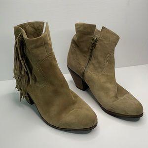 Sam Edelman heeled fringe suede boots